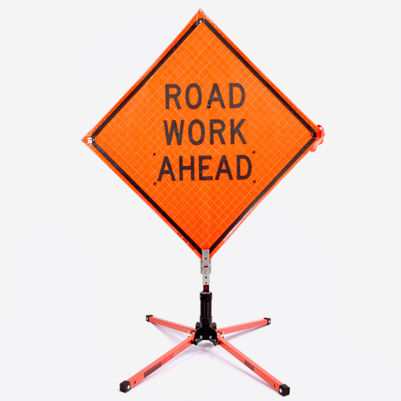 Road Sign - Road Work Ahead