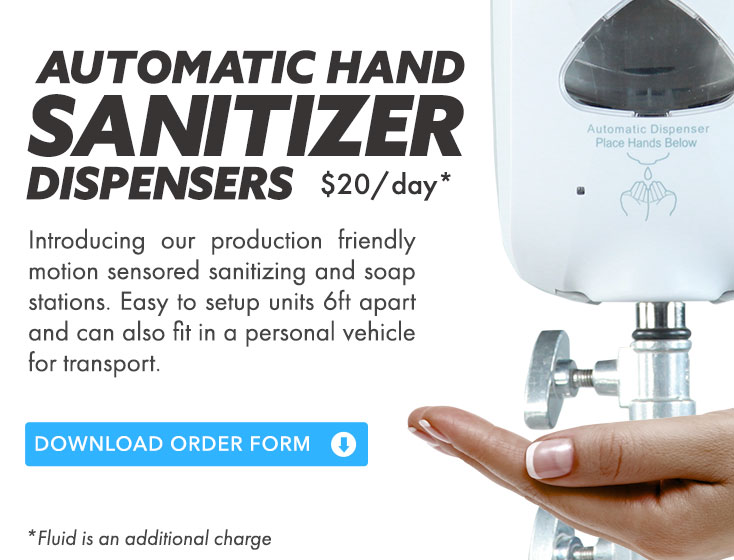 Automatic Sanitizer Dispenser CTA Production Supplies