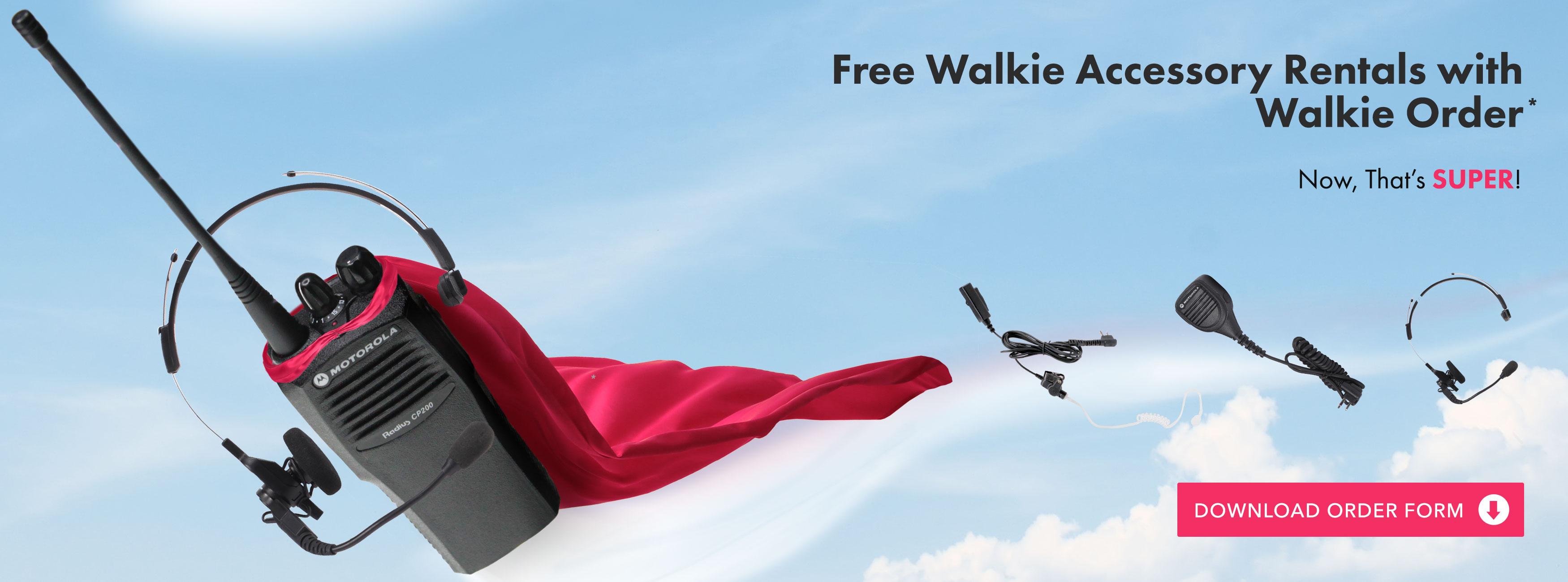 Walkie flying through the air