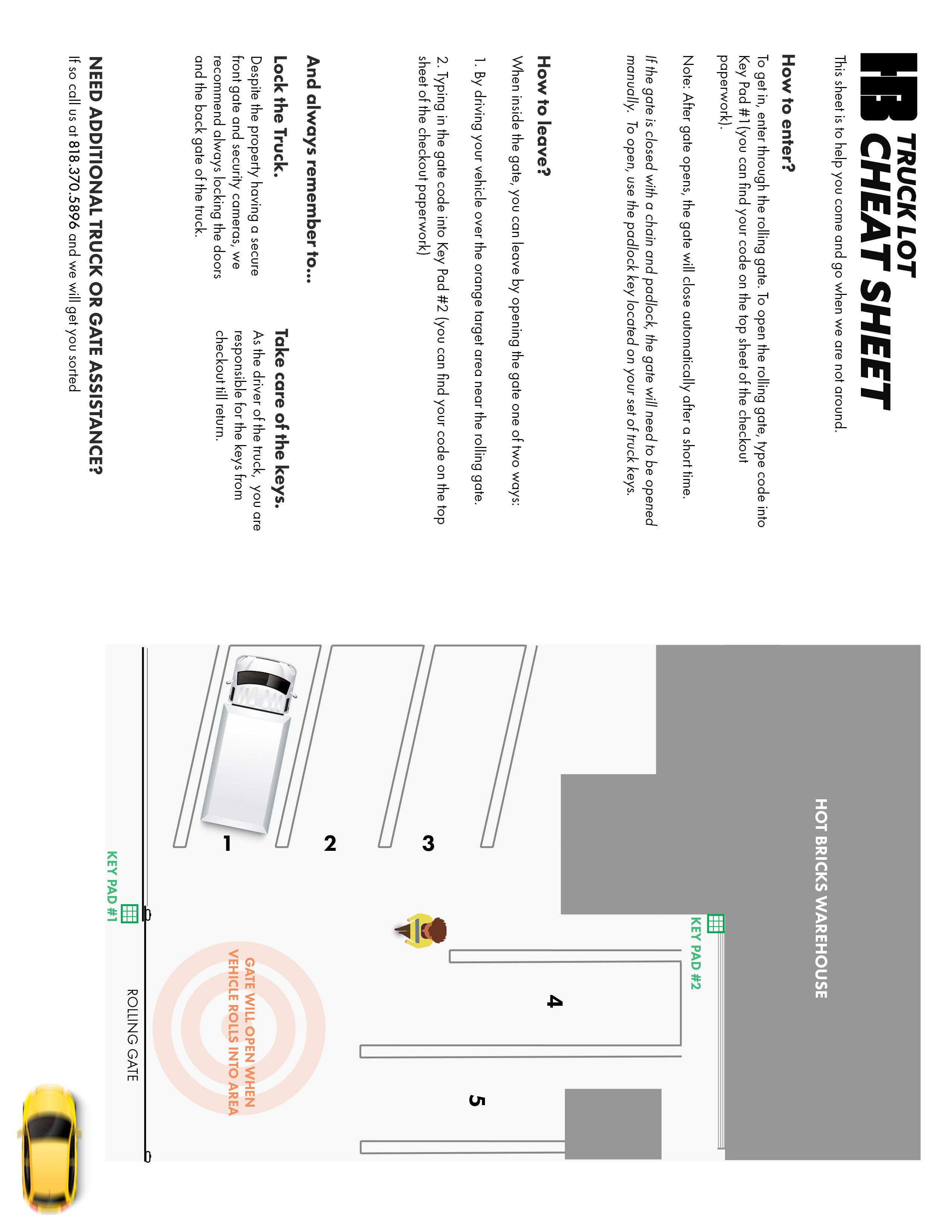 Hot Bricks Truck Lot Cheat Sheet thumb image
